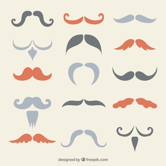Variety of mustaches