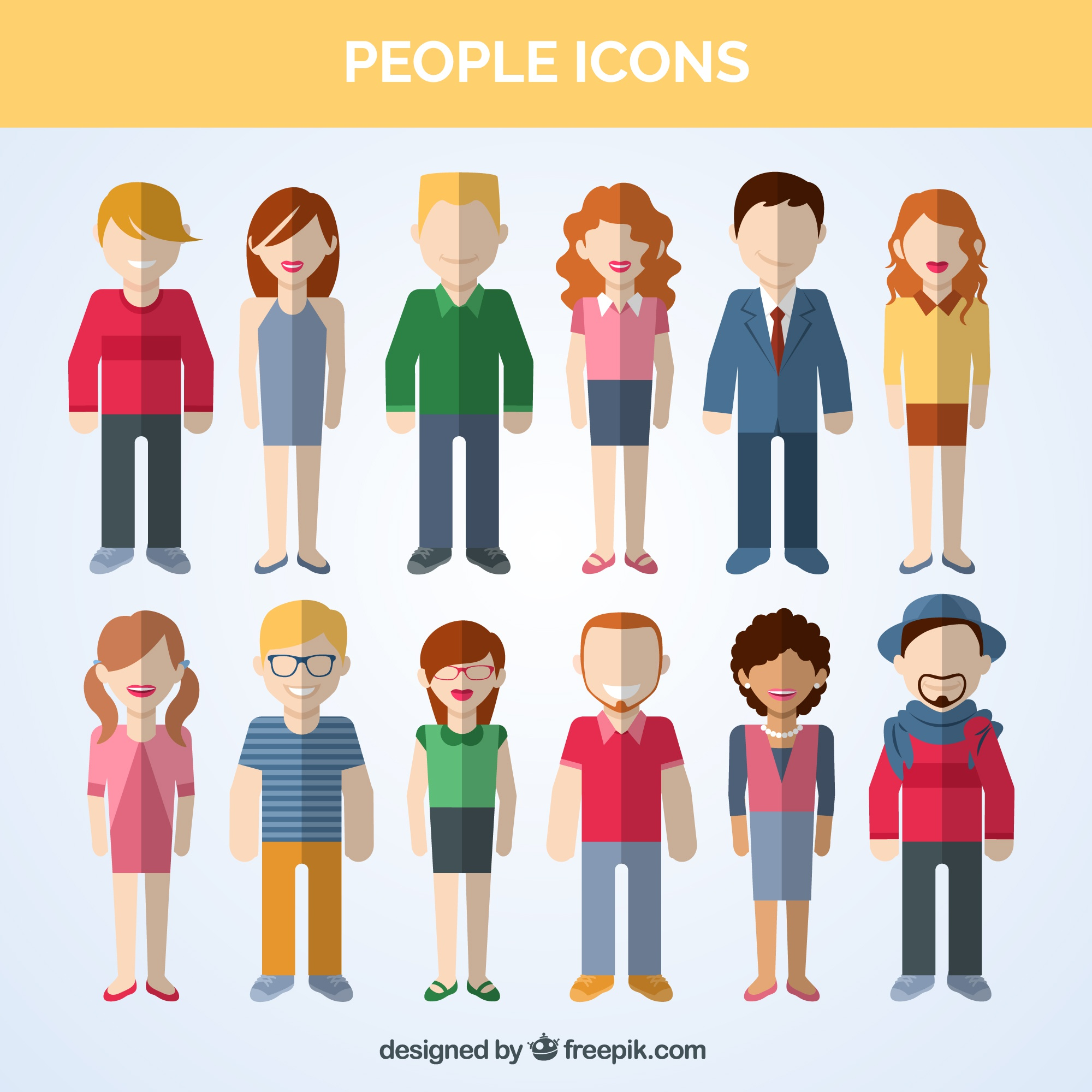 Variety of people icons