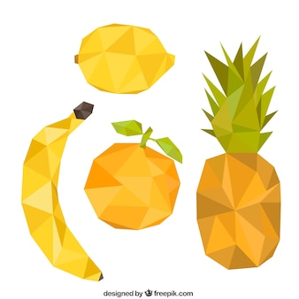 Variety of polygonal fruits
