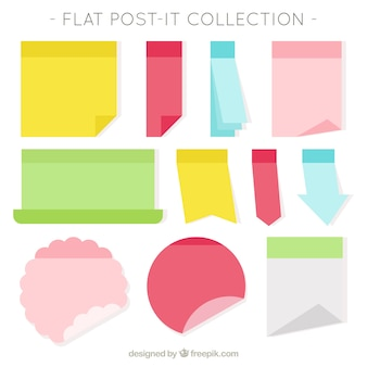 Variety of post-it with different designs