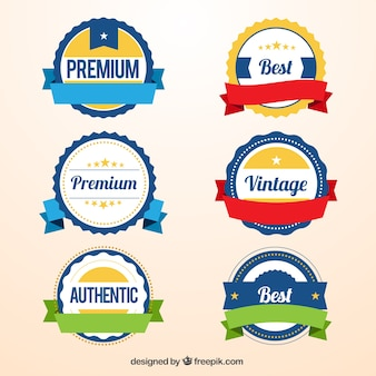 Variety of promotion badges