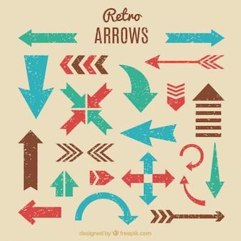 Variety of retro arrows