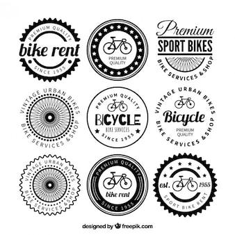 Variety of retro bike badges