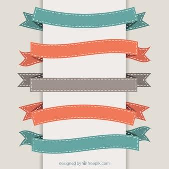 Variety of retro ribbons