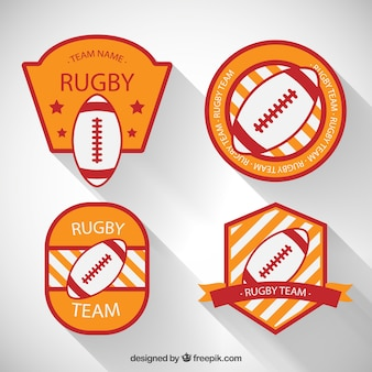 Variety of rugby badges