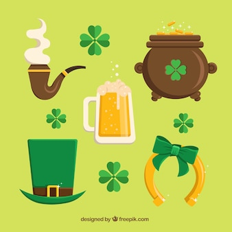 Variety of Saint Patrick elements