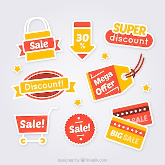 Variety of sale labels