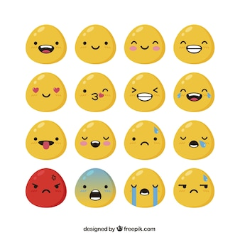 Variety of shiny emoticons