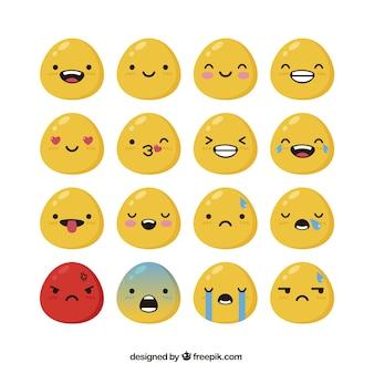 Variety of shiny emoticons