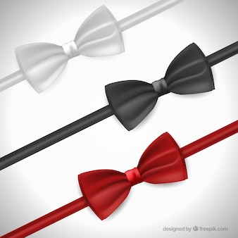 Variety of silky bow ties