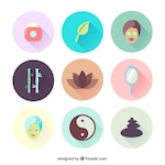 Variety of spa icons