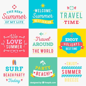 Variety of summer backgrounds