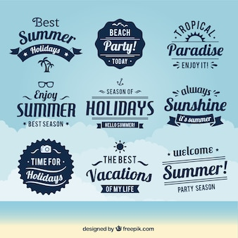 Variety of summer badges