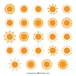 Variety of sun icons