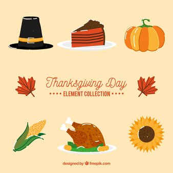 感謝の典型的な要素の様々な