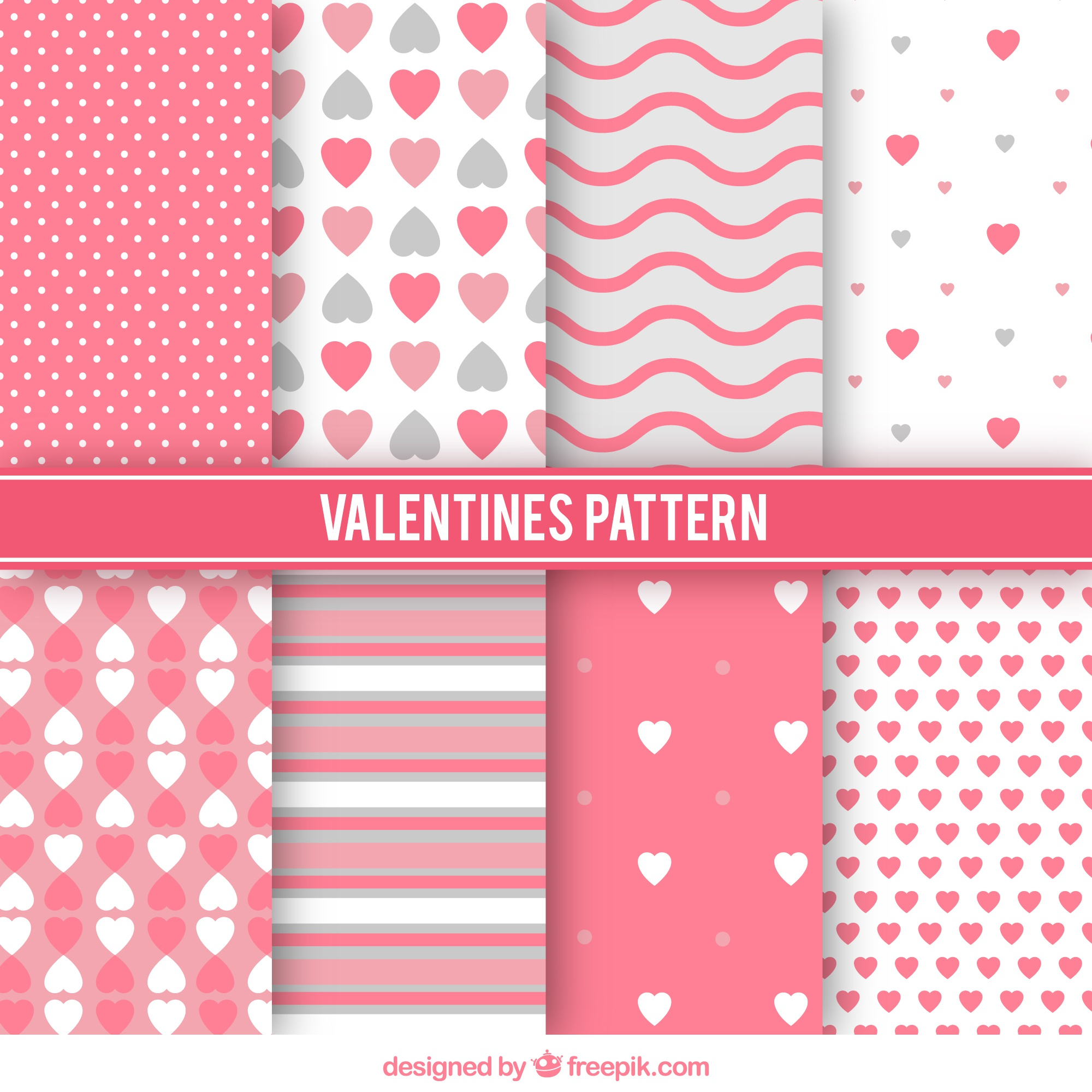 Variety of valentine patterns