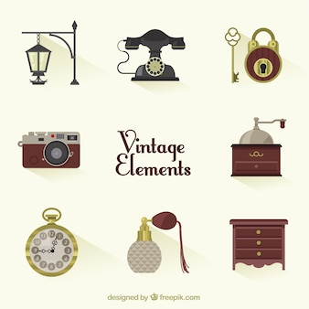 Variety of vintage elements