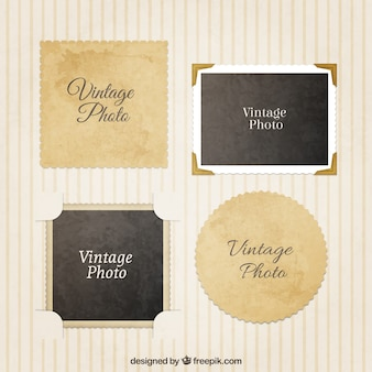 Variety of vintage photography frames
