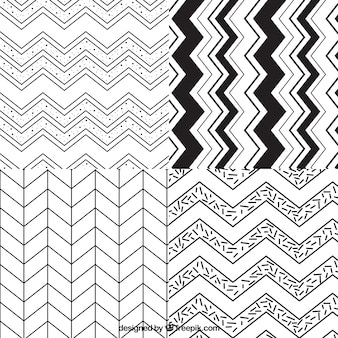 Variety of zig zag patterns