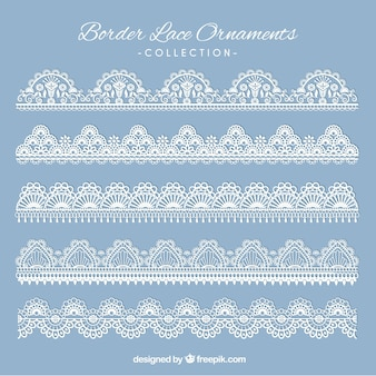 Various classic lace borders