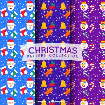 Various colorful christmas patterns