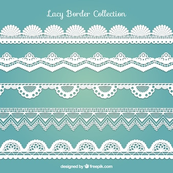Various decorative lace borders