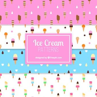 アイスクリームの様々な装飾パターン
