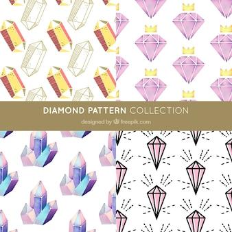 Various diamond patterns