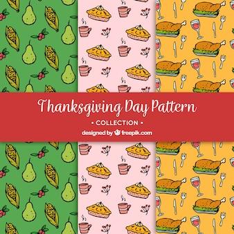 様々な手が感謝のパターンを描いた