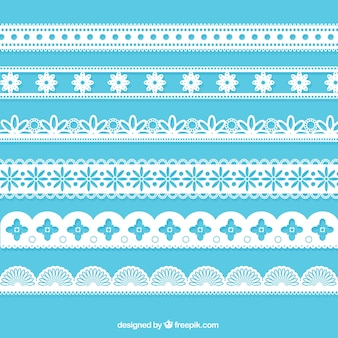 Various lace borders
