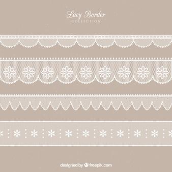 Various lace edges