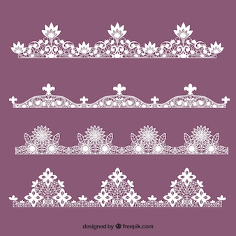 Various lace ornaments