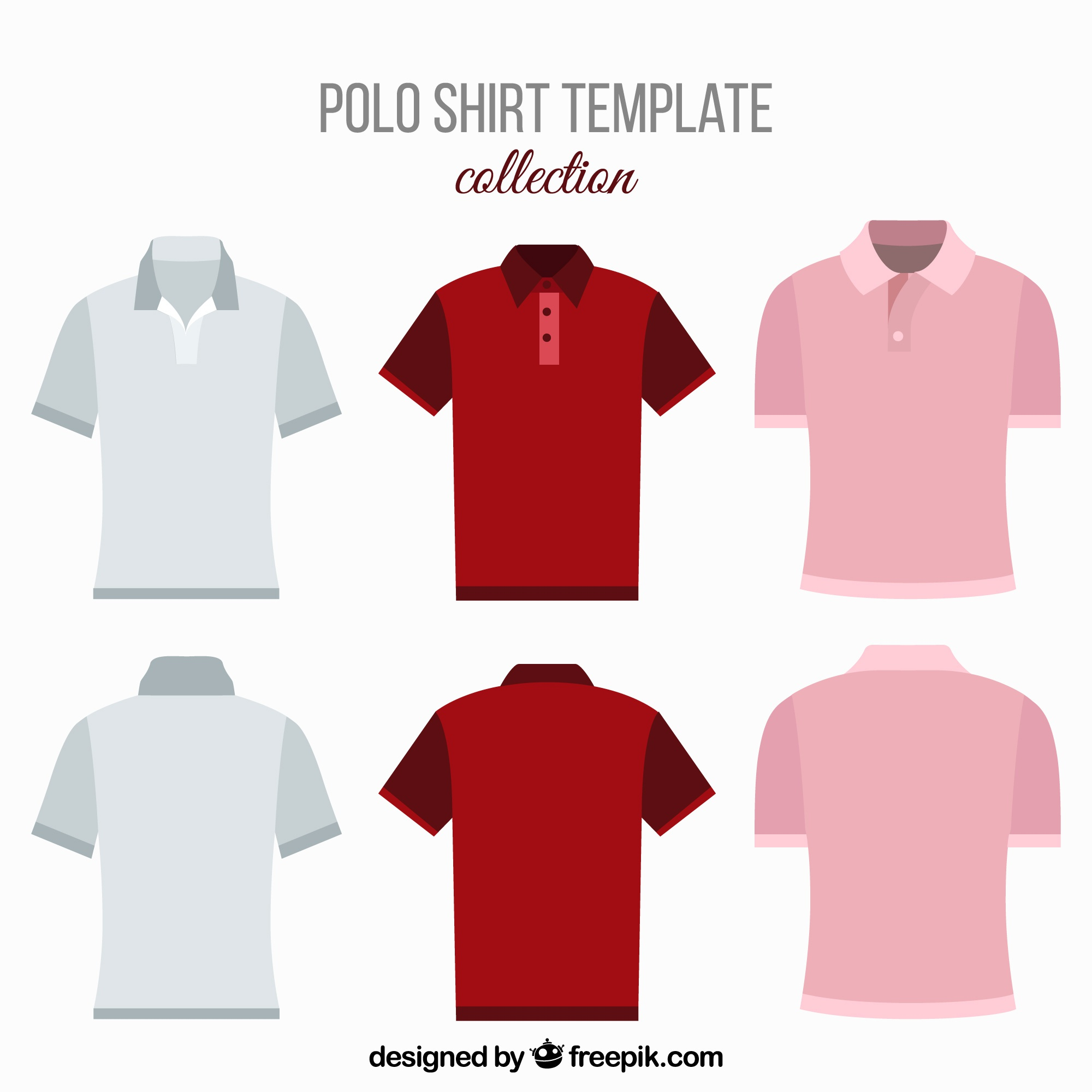 Various polo shirts for men