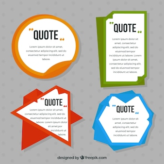 Various quote stickers