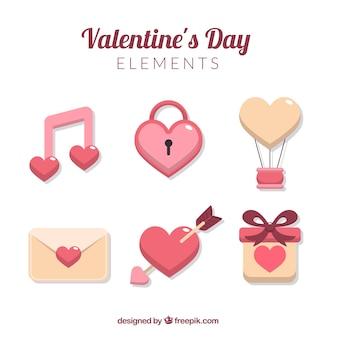 Various valentine elements