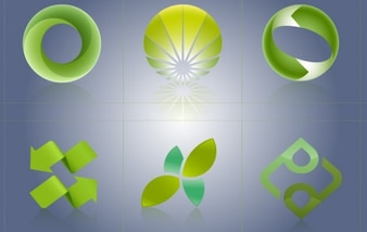 Vector 6 green pictures