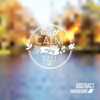 Vector abstract autumn background