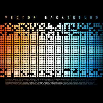 Vector Abstract colorful background. Color Circle