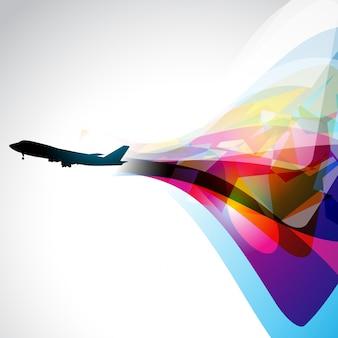 Vector airplane artwork