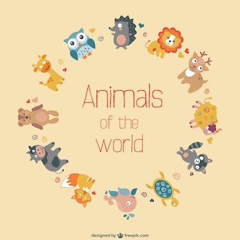 Vector animals free flat design