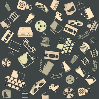Vector background seamless. Retro film
