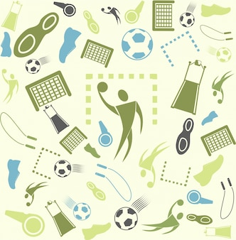 Vector background seamless. Sport and handball.