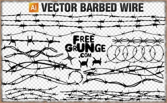 vector barbed wire