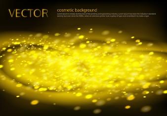 黄金の輝きとベクトル黒背景