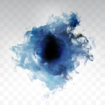 Vector blue cloud.