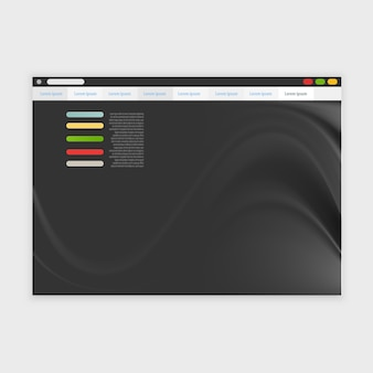 Vector browser design with responsive