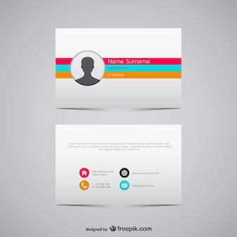 Vector business card illustration