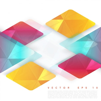 Vector design rhombus