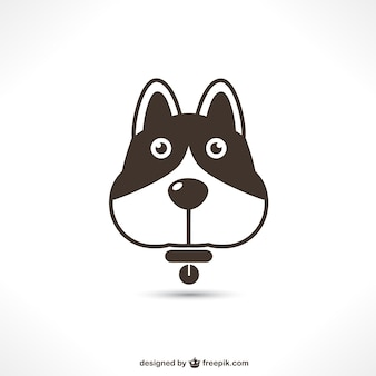 Vector dog icon