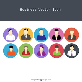 Vector flat professional people icons